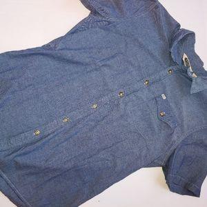 Salt Valley Western Denim Button Shirt L